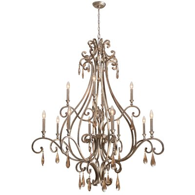 Crystorama Shelby 12 Light Chandelier