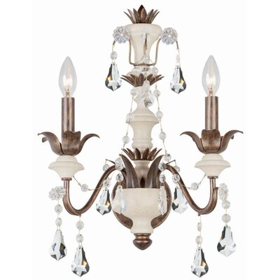 Crystorama Malibu 2 Light Wall Sconce