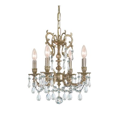 Crystorama Gramercy 5 Light Crystal Candle Chandelier