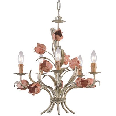 Crystorama Southport 5 Light Candle Chandelier