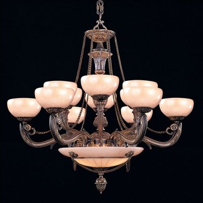 Bravado Alabaster 15 Light Chandelier