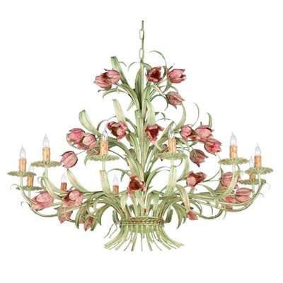 Crystorama Southport 12 Light Candle Chandelier