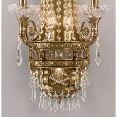 Crystorama Traditional Classic 5 Light Candle Wall Sconce