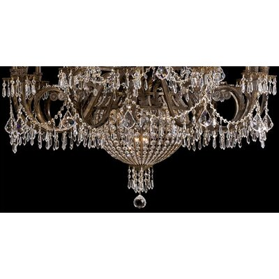 Crystorama Traditional Classic 23 Light Crystal Candle Chandelier
