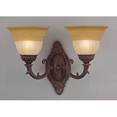 Crystorama Oxford 2 Wall Sconce in Venetian Bronze