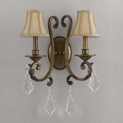 Crystorama Fashion Forward 2 Light Wall Sconce