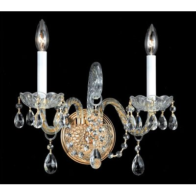 Crystorama Baroque Candle Wall Sconce | Wayfair