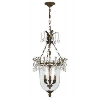 Crystorama New Town 3 Light Foyer Pendant