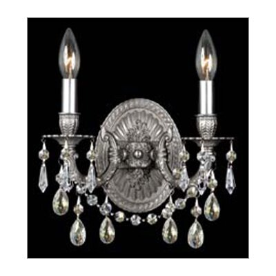 Crystorama Mirabella Wall Sconce in Pewter
