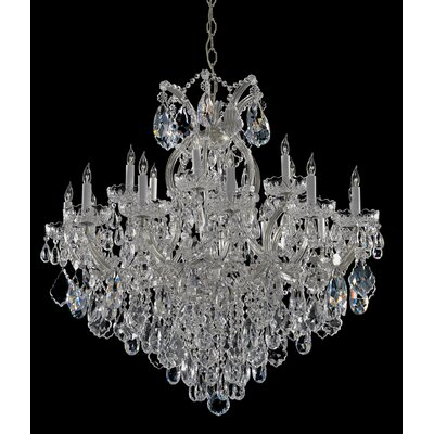 Bohemian Crystal 19 Light Candle Chandelier