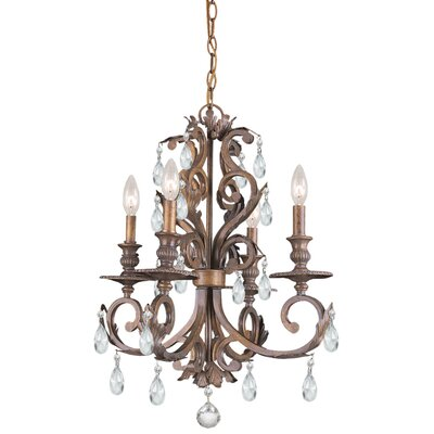 Crystorama Royal 4 Light Chandelier