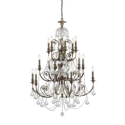 Traditional Classic 18 Light Crystal Candle Chandelier