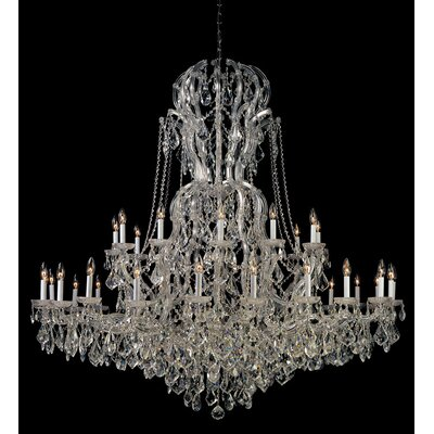 Crystorama Bohemian Crystal 37 Light Candle Chandelier