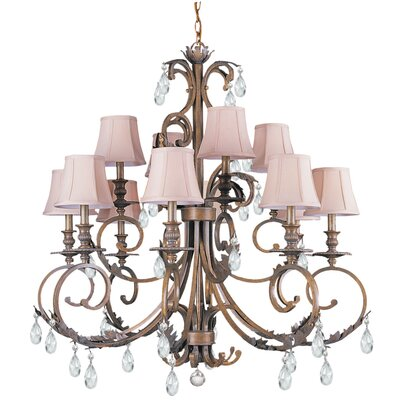 Crystorama Royal 12 Light Chandelier