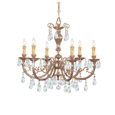 Olde World 6 Light Chandelier