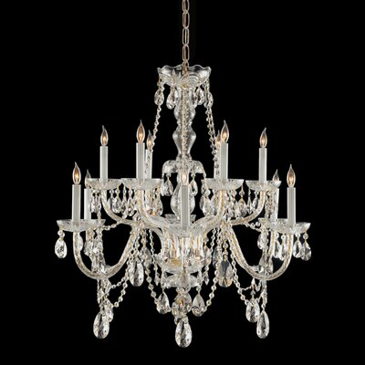 Crystorama Traditional Crystal 12 Light Chandelier