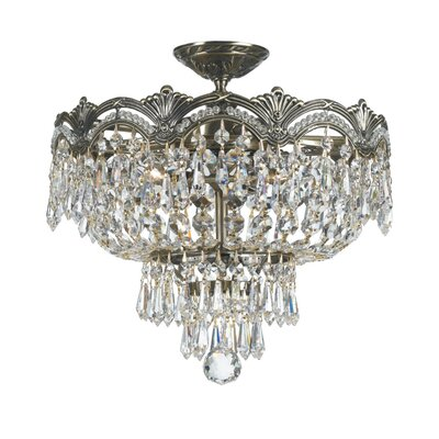 Crystorama Majestic 3 Light Semi Flush Mount