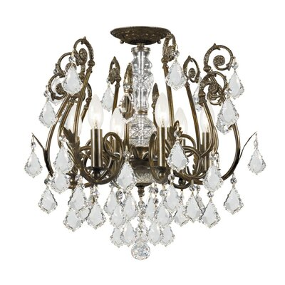 Crystorama Imperial 6 Light Semi Flush Mount