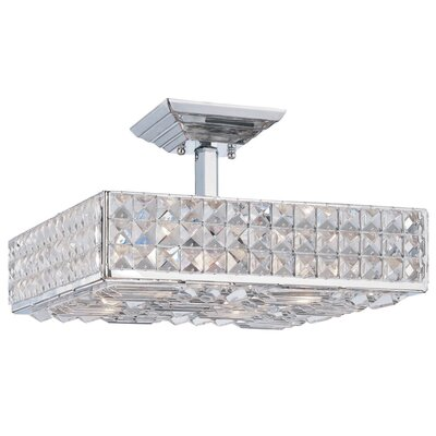 Crystorama Chelsea Semi Flush Mount