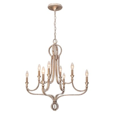 <strong>Crystorama</strong> Garland 8 Light Chandelier