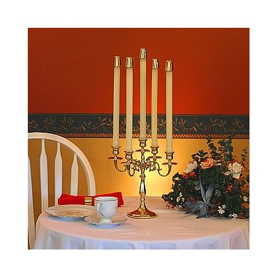 Brass & Silver Traditions Five Arm Candelabra
