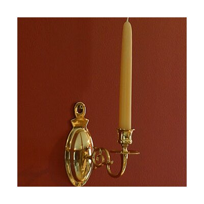 Brass & Silver Traditions Oval Wall Sconce