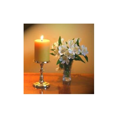 Brass & Silver Traditions Pillar Round Base Candle Holder
