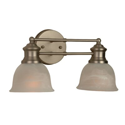 Jeremiah Lite Rail 2 Light Bath Vanity Light