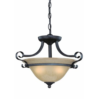 Jeremiah Stanton 3 Light Semi Flush Mount