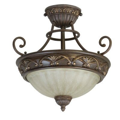 Jeremiah Barcelona 2 Light Semi Flush Mount