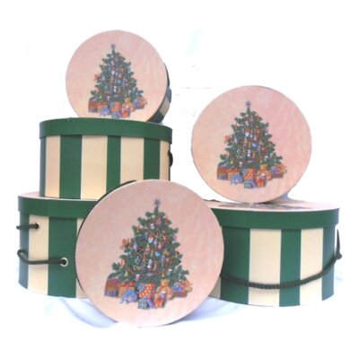 Drainage Industries Tradition Tree Round Hat Box Nested in Each Other