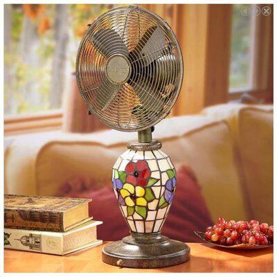 Deco Breeze Flowers Table Top Fan