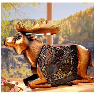 <strong>Deco Breeze</strong> Moose Figurine Table Top Fan