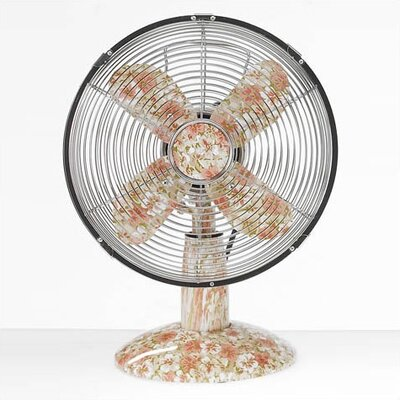 Deco Breeze Small Metal Desktop Fan in Pastels