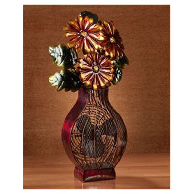 Flower Vase Table Top Fan