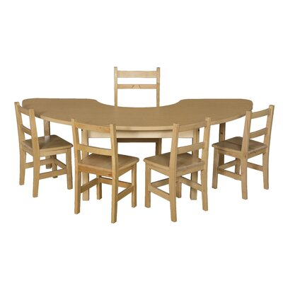 Wood Designs Half Circle High Pressure Laminate Table