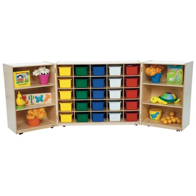 Wood Designs Tri Fold 26 Compartment Cubby