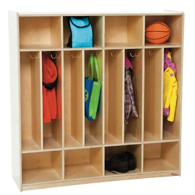 Wood Designs Eight Section Space Saver Locker