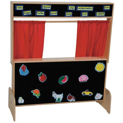 Wood Designs Deluxe Puppet Theater with Flannelboard