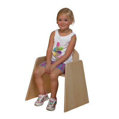 "Wood Designs Woodie 13"" Plywood Classroom Stackable Tot Chair"