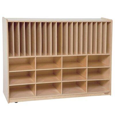 Wood Designs Tip-Me-Not Portfolio Storage Center 32 Compartment Cubby