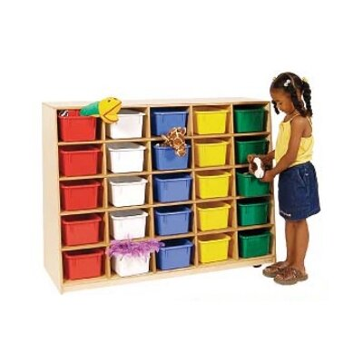 Wood Designs Tip-Me-Not Healthy Kids Storage without Trays