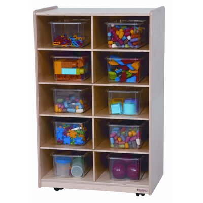 Wood Designs Ten Tray Folding Vertical Storage Unit