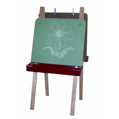 Wood Designs Double Adjustable Easel with Chalkboard