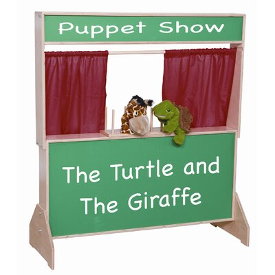 Wood Designs Deluxe Puppet Theater with Chalkboard