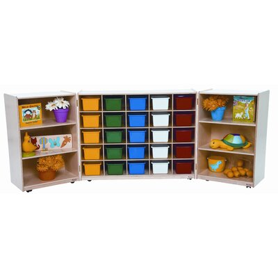 Wood Designs Tri Fold Storage Unit with Assorted Trays
