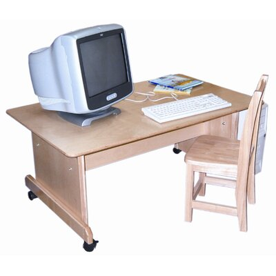 Wood Designs Computer Table with Adjustable Height