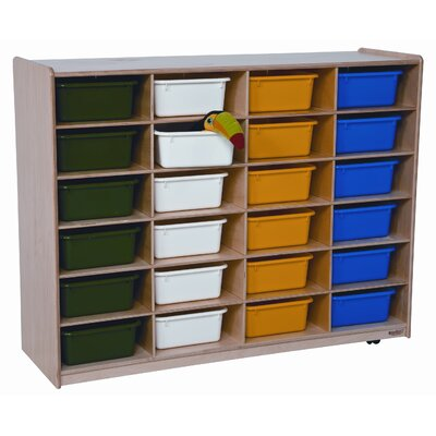 Wood Designs Twenty Four Large Tray Storage Unit with Assorted Trays
