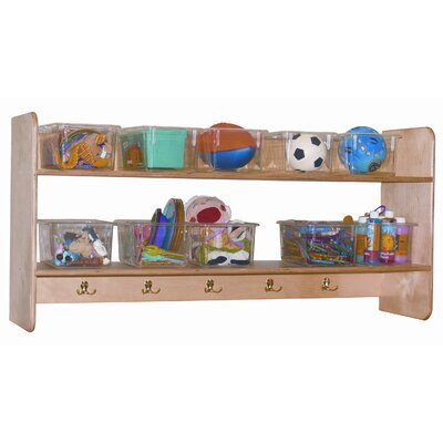 Wood Designs Ten Tray Wall Locker and Storage Unit