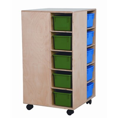 Wood Designs Space Saver Cubby Spinner with Assorted Trays